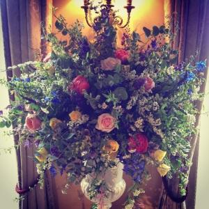 Gorgeous big urn at Hampton Court House