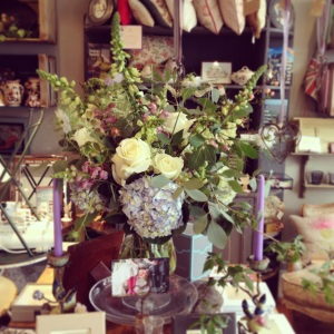 Table flowers at Nest in Ripley