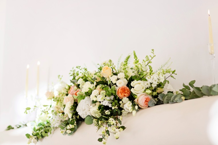 Fireplace fleurs