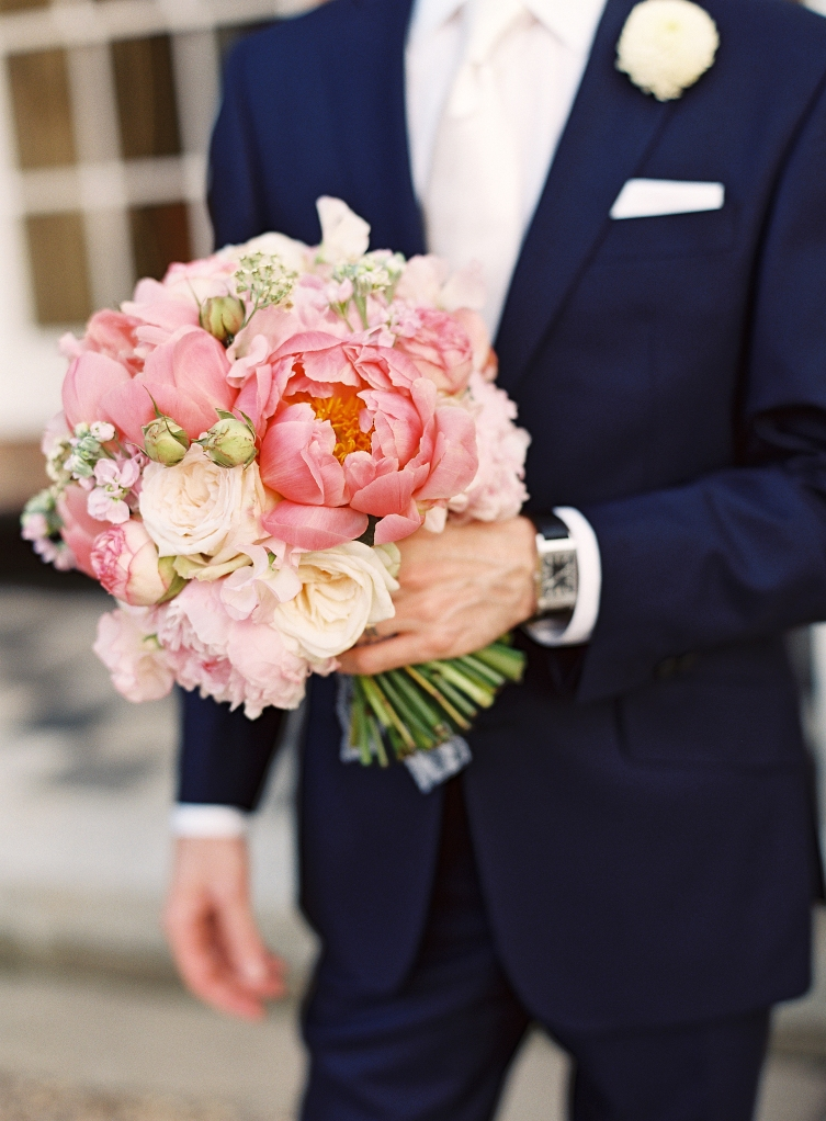 Groom and blooms