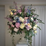 Ceremony flowers at Pembroke Lodge, Richmond