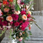 Ceremony flowers at Aynhoe Park