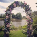 Floral arch in Twickemham